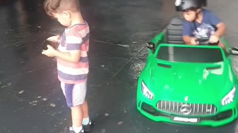 The amazing drifting kid shows off his mind-blowing skills