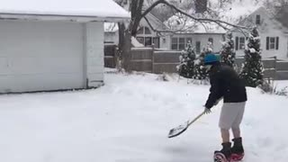 Hoverboard Snow Plow - Video