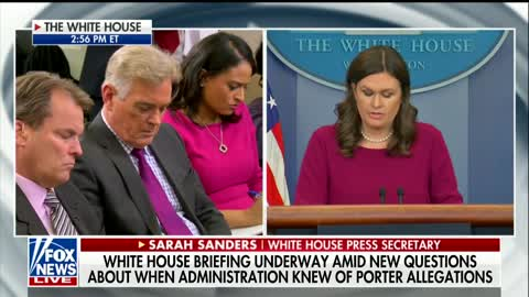 Sanders: White House Personnel Security Office, Not White House Staff Got FBI's Porter Finding