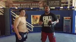 Mark Hunt Punching Emiliano Rivera - Video