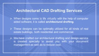 Architectural CAD Drafting Services - Video