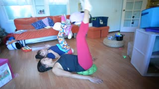 How to exercise while babysitting the kids! - Video