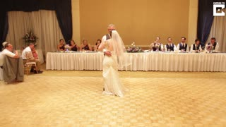 Bride Ditches Tradition For A Boogie With Her Dad - Video