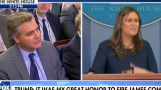 'You Would Probably Get Really Upset' — Sarah Sanders Embarrasses Jim Acosta - Video