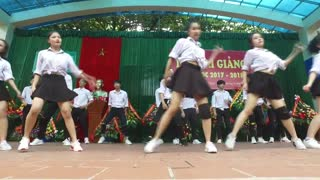 The best performance of the dance sport girls