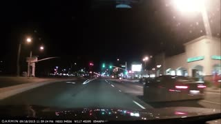 High speed stolen motorcycle car chase - Video