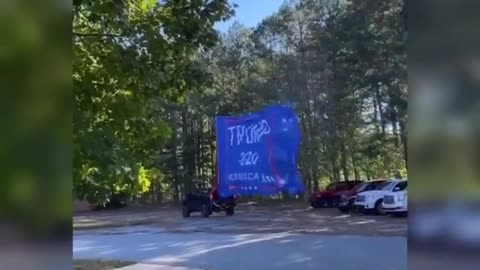 Biggest Trump Flag In The World!