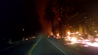 Escaping Anderson Springs and driving toward Middletown during Valley Fire - Video