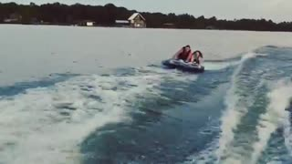 Collab copyright protection - river raft boat fall fail - Video