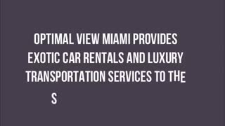 luxury car rental miami - Video