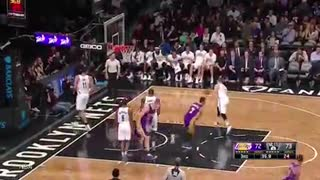 Larry Nance Jr Tries To KILL Brook Lopez with INSANE Dunk - Video