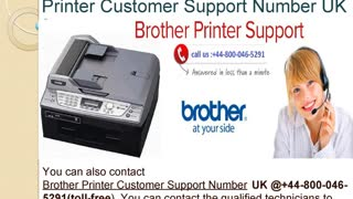 44-800-046-5291 How to fix Brother Printer Error Code 4f - Video