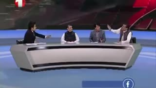 Football debate on Live TV in Afghanistan - Video
