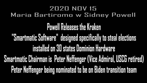 2020 NOV 15 SIDNEY POWELL RELEASES THE KRAKEN ON SUNDAY MORNING FUTURES, SIDNEY HAS PROOF OF FRAUD