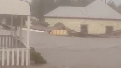 House gets swept away by flash flood in Australia