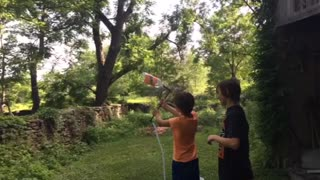 Bottle Rocket Fail - Video