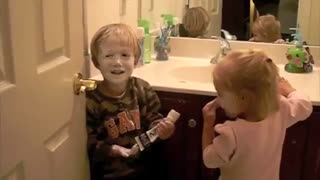 Kids Caught Playing with Diaper Cream