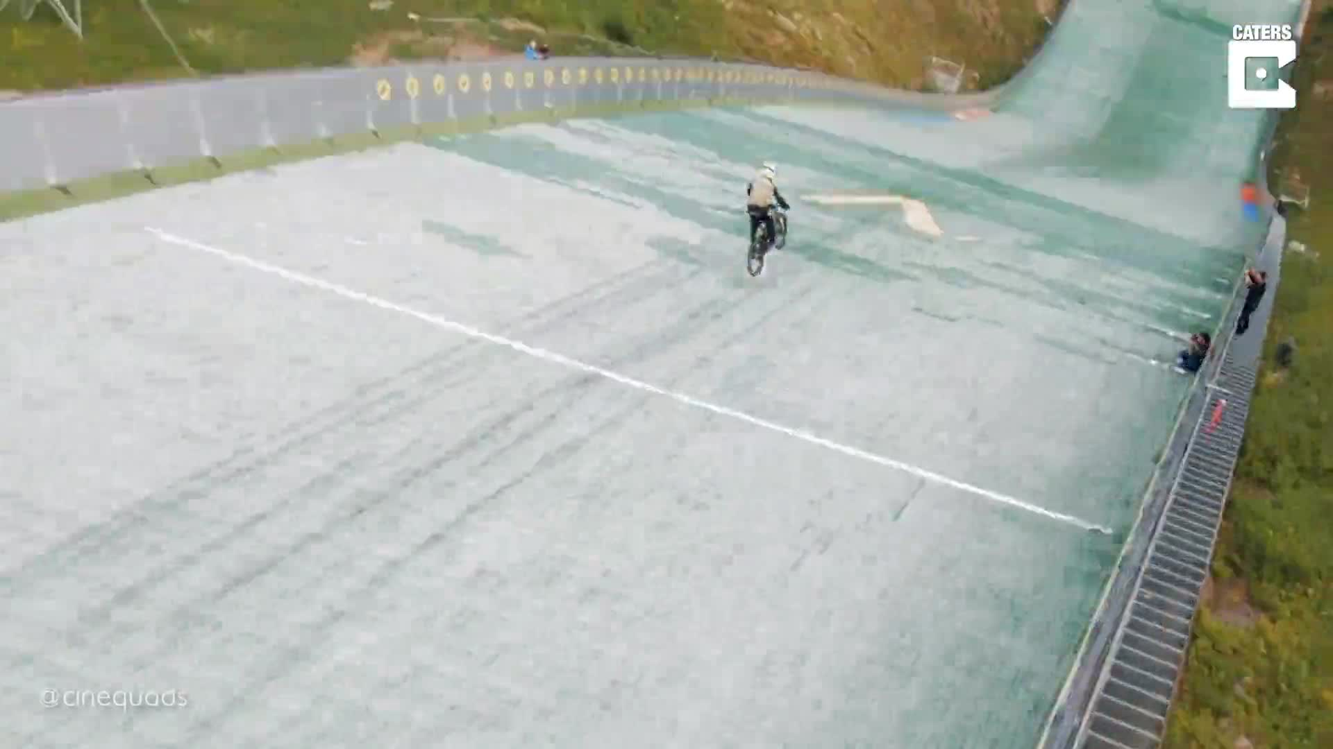 WORLD RECORD ATTEMPT RESULTS IN EPIC CRASH CAPTURED BY CINEMATIC DRONE