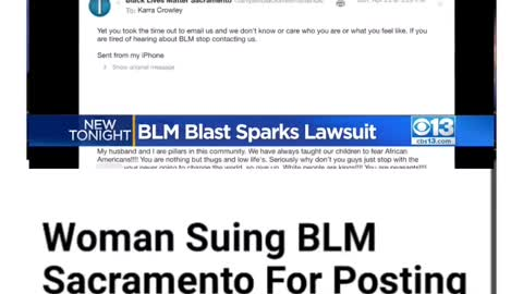 Woman Suing BLM For Using Fake, Racist Messages She Says She Didn't Send