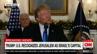 Trump Officially Recognizes Jerusalem as Capital of Israel: - Video