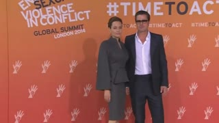 Hague, Jolie and Pitt arrive for final day of global summit - Video