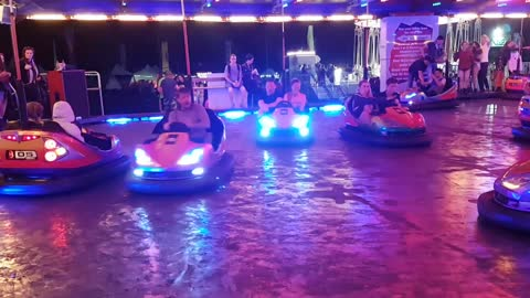 Guy At Music Festival Screams In Panic While Riding On Bumper Car