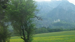 View of Neuschwanstein castle. Bavaria. - Video