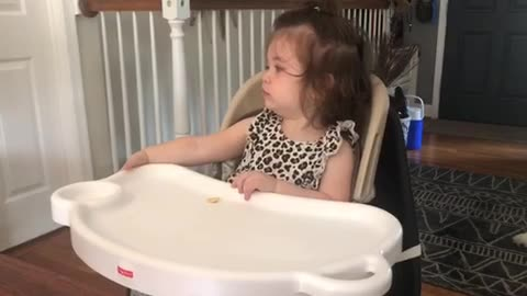 Baby girl is shocked after Google Assistant speaks back to her