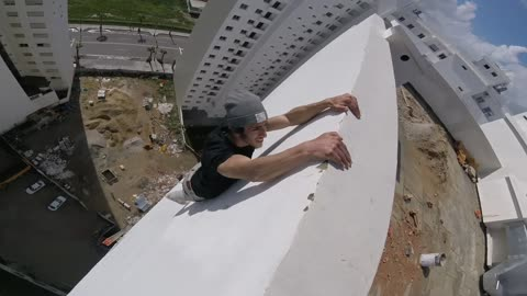 Risky High Rise Workout in Morocco