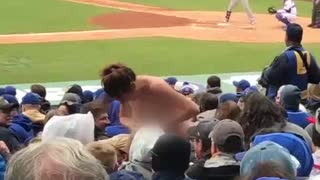 Drunk Lady Flashes Crowd at Cubs Game - Video