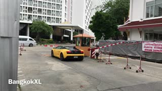 Yellow Lamborghini In Patpong, Bangkok