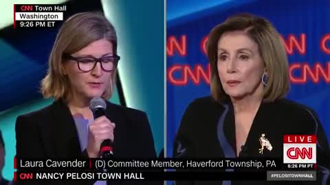 Pelosi talks of denying Trump a 2nd term during CNN town hall