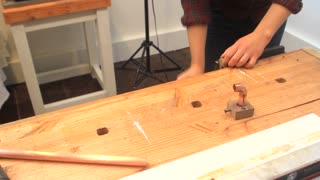 How to make a copper pipe utensil bar - Video