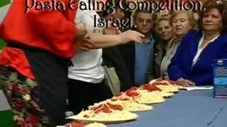 Pasta Eating Competition - Video