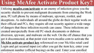 How to install McAfee antivirus using McAfee activate product key?