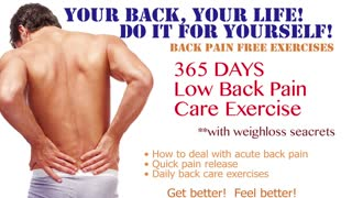 How to Sit for Low Back Pain by AyaCise No.4  - Video