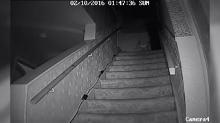 Poltergeist Throwing Stroller Down Stairs Caught On Video - Video