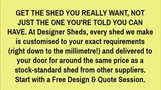 designer sheds - Video