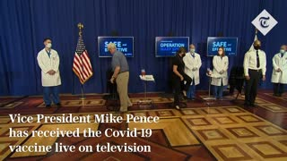 Mike Pence receives coronavirus vaccine live on TV