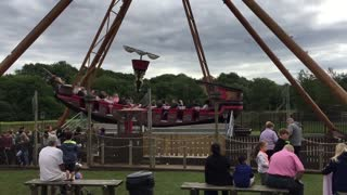 The Flying Cutlass Pirate Ship ride Light water Valley