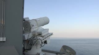 US navy shows off new ship-based laser weapon