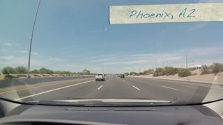 825 mile drive in 2.5 minutes from Arizona to California - Video
