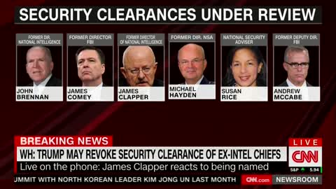 Clapper Responds To Possibility His Security Clearance Could Be Revoked — Petty Thing To Do