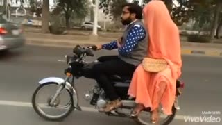 Couple Motorcycle Riding - Past,Present,Future - Video
