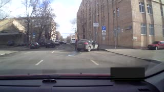 Speeding Driver Takes Out Turning Car - Video