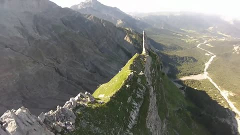 Wingsuit pilots fly inches above terrain