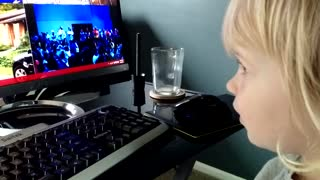 Toddler carries adorable one-sided conversation with 'Cortana'