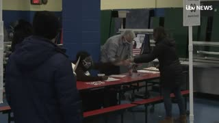 Look at this bullshit inside a New York voting station!