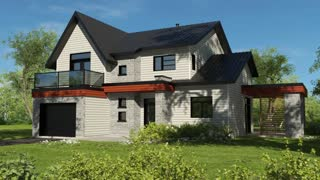 Best Two Story Contemporary House Plan by Drummond House Plans (plan 3723)
