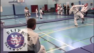 Isle of Arran Tae Kwon Do Sparring, Elite Scotland competition ITF 3rd  - Video